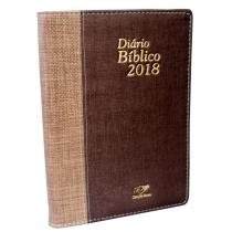 Diário Bíblico Luxo Marrom 2018 - Canção nova