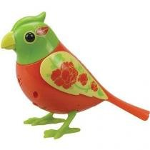 Digibirds Pássaros Cantam e Mexem DTC Laranja e Verde -