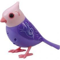 Digibirds Pássaros Cantam e Mexem DTC Roxo e Rosa -