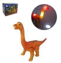 Dinossauro brachiosaurus colors projeta imagem com som e luz a pilha - Saytam
