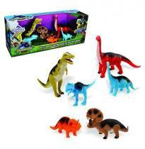 Dinossauro evolucao com 6 pecas mundo de aventuras - Wellmix