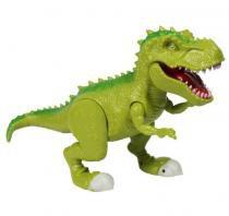 Dinossauro Tiranossauro Attack Som e Luz 37cm Adijomar - Verde -