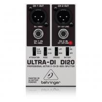Direct Box Ativo 2 canais Behringer DI20 Ultra-DI -