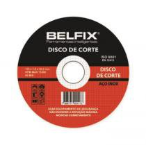 DISCO DE CORTE INOX 4.1/2pol x 1mm BELFIX - Bel fix