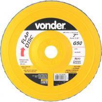 """Disco de lixa flap disc reto 7"""" com costado plástico grão 50 (50) - Vonder"""