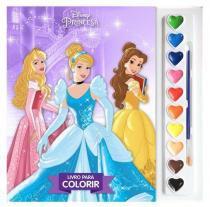 Disney - aquarela - princesas - nv - Editora dcl