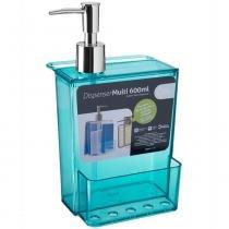 Dispenser Retrô Coza Porta Detergente e Esponja 600ml Verde -