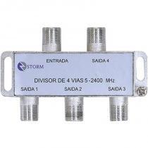 Divisor de Antena 1 Entrada e 4 Saídas 950-2400Mhz S06-04 - OEM - OEM