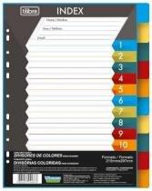 Divisórias Para Fichário Em Polipropileno 10 Matérias - Tilibra