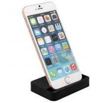 Dock station base carregador mesa iphone 6 e 6s 6s plus preto - Willhq
