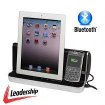 Dock Station Som c/ Bluetooth p/ iPhone, iPod, Celular, Tablet, Sansung Galaxy, etc - Leadership