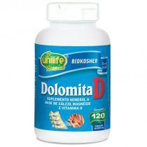 Dolomita com Vitamina D 120 cápsulas Unilife -