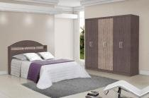 Dormitório Completo Casal Dubai Ipê com Avelã - Tebarrot Móveis -