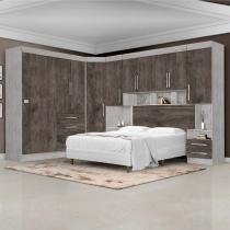 feba0aeb46 Dormitório Completo Georgia JA Avelã   Itaúba Para Cama Box 1
