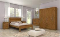 Dormitorio lopas hector casal completo 4 peças rovere soft - Comercio ind e transporte lopas s/a
