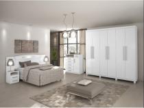 Dormitorio lopas ideale casal completo 3 peças branco - Comercio ind e transporte lopas s/a