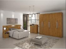 Dormitorio lopas ideale casal completo 3 peças rovere soft - Comercio ind e transporte lopas s/a