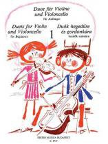 Duets for Violin and Violoncello for Beginners - Hal leonard books
