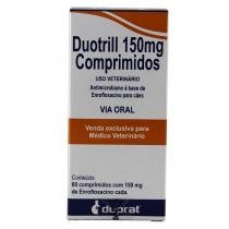Duotrill 150mg 60 comp Enrofloxacina Cães e Gatos - Duprat -