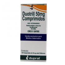 Duotrill 50mg 120 comp Enrofloxacina Cães e Gatos - Duprat -