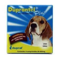 Duprantel Plus Vermífugo Cães 10kg  4 comprimidos - Duprat -