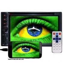 Dvd Automotivo 2 Din 6.2 First Option Multimídia Sd Usb Bluetooth Tv Digital Gps Espelhamento -