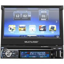 "DVD Automotivo Multilaser GP044 LCD 7"" - Retrátil Touch Bluetooth 35 Watts RMS"