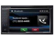 "DVD Automotivo Pósitron SP8520BT LCD 6,2"" Retrátil - Touch Bluetooth 180W RMS USB SD Auxiliar Frontal"