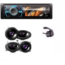 Dvd Automotivo Usb Sd New Link + Kit Auto Falantes 6 E 5 Pol Pioneer 50w + Camera de Ré - New link / pioneer
