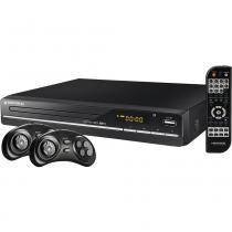 DVD com Karaokê com USB, Game, Ripping, 2 Joysticks e CD de 600 Jogos Mondial Game Star USB II D-14 -