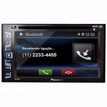 Dvd Pioneer Avh-298bt Tela 6.2 Usb 2din Aux Bt Carro Radio - Auto Mais