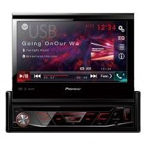 Dvd pioneer avh-4880bt bluetooth tela 7º retrátil usb -