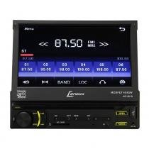 DVD Player Automotivo Lenoxx 7 Pol com Tela Retrátil Touch Screen CD USB MP3 Cartão SD Entrada Auxiliar - Lenoxx