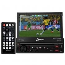 DVD Player Automotivo Lenoxx AD-2678 1 Din Retratil 7 Pol USB SD AUX MP3 MP4 TV RCA Botão Removível - Lenoxx