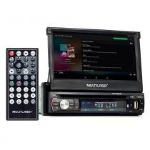 "DVD Player Automotivo Multilaser Extreme+ Retrátil GPS, TV Tela 7"" USB, SD, Aux e Bluetooth GP044 -"
