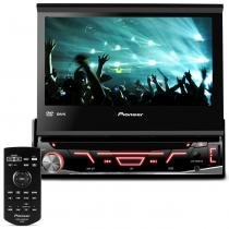 DVD Player Automotivo Pioneer AVH-3880DVD 1 Din 7 Pol Retrátil USB AUX CD AM FM MP3 RCA Controle -