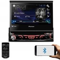 DVD Player Automotivo Pioneer AVH-4880BT 1 Din 7 Pol Retrátil Bluetooth USB AUX RCA AM FM Microfone -