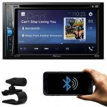 DVD Player Automotivo Pioneer AVH-A208BT 2 Din 6.2 Pol Bluetooth Android iOS USB AUX MP3 Rádio AM FM -