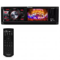 DVD Player Automotivo Pioneer DVH-7880AV 1 Din 3 Pol USB AUX MP3 CD WMA AM FM RCA Controle -