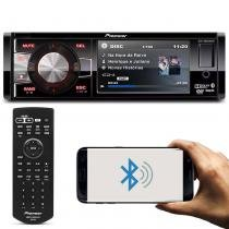 DVD Player Automotivo Pioneer DVH-8880AVBT 1 Din 3,5 Pol Bluetooth USB AUX CD MP3 RCA WMA AM FM - Pioneer