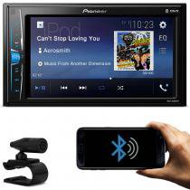 DVD Player Automotivo Pioneer MVH-A208VBT 2 Din 6.2 Polegadas Bluetooth USB AUX RCA AM FM -