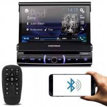 DVD Player Automotivo Positron SP6320BT 1 Din 7 Pol Retrátil Bluetooth Touch USB SD AUX MP3 CD FM -