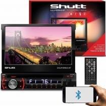 DVD Player Automotivo Shutt Califórnia BT 7 Pol Bluetooth USB SD AUX MP3 MP4 FM Entrada Câmera Ré - Shutt