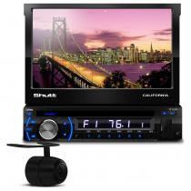 DVD Player Automotivo Shutt Califórnia Retrátil USB MP3 + Câmera de Ré 2 em 1 Para-choque ou Placa - Prime