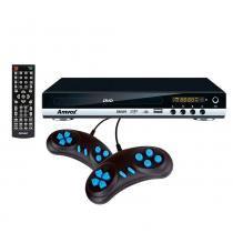 DVD Player Game AMD-910 USB com 300 Jogos, 2 Joysticks, Controle Multifunção - Amvox -