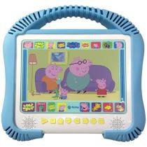 "DVD Player Infantil Portátil Tec Toy Kids Peppa - LED 7"" USB"