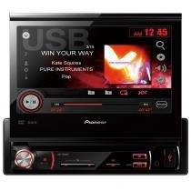 """DVD Player Pioneer AVH-3580DVD Tela Retrátil 7"""" Entrada AUX e p/ Câmera de Ré - Pioneer"""