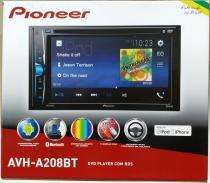 Dvd Player Pioneer Avh-a208bt Bluetooth Usb Aux 2 Din 6.2 polegadas -