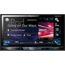 DVD Player Pioneer AVH X5880TV 2 Din com TV Digital Bluetooth USB 7 Polegadas e Mixtrax -