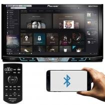 DVD Player Pioneer AVH-X598TV 2 Din Bluetooth TV USB Waze Spotify Conexão Simultanea Android e IOs - Pioneer